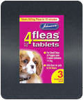 Johnsons 4 Flea Tablets Small Dog 3 Pack