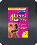 Johnsons 4 Flea Tablets For Large Dogs 3 Pack