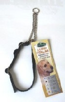 Combi Dog Collar 16mm X 34 to 50cm Black Canac