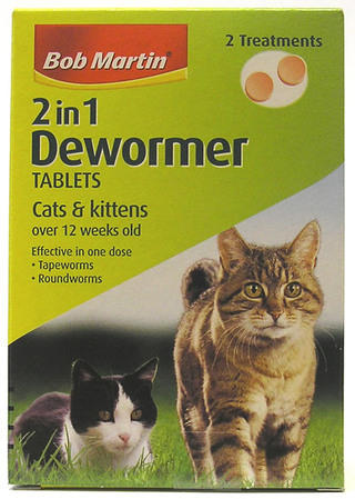 Bob Martin 2 in 1 Dewormer Tablets For Cats