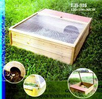 Wooden Tortoise Guinea Pig House and Run