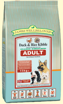James Wellbeloved Duck and Rice Adult Dog Food 15 Kg