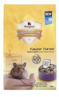 Supahamster Hamster Harvest Food 750g Burgess Pet Care