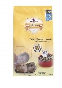 Supahamster Dwarf Harvest Hamster Food 700g Burgess Pet Care