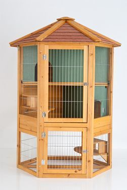 Hexagonal Rabbit Hutch Three Storey Hutch 105x88x140cm