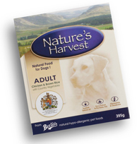 Natures Harvest Adult Chicken and Rice Dog Food 10 X 395g