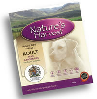 Natures Harvest Adult Duck and Rice Dog Food 10 X 395g