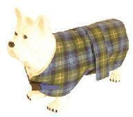 Pennine Dog Coat Blue Green 14""