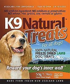 K9 Natural Lamb Treats For Dogs 50gm