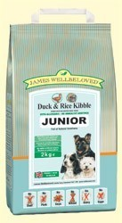James Wellbeloved Duck and Rice Junior Dog Food 2 Kg