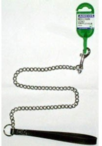 Medium Chain Dog Lead Black Handle