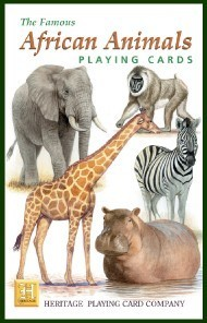 Heritage African Animals Playing Cards
