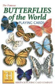 Heritage Butterflies of The World Playing Cards