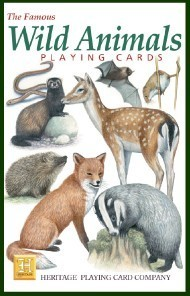 Heritage Wild Animals Playing Cards