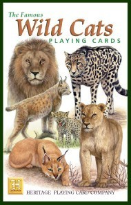 Heritage Wild Cats of The World Playing Cards