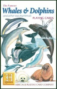 Heritage Whales and Dolphins Playing Cards