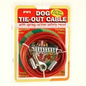 Dog Tie Out Cable 4.5m 15ft