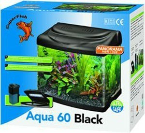 Superfish Panorama Aqua 60 Black 55 Litre Fish Tank