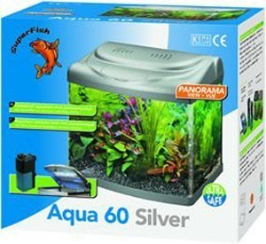 Superfish Panorama Aqua 60 Silver 55 Litre Fish Tank