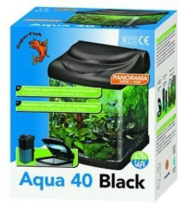 Superfish Aqua 40 Fish Tank Black 25 Litre
