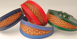 """Luxury Whippet Collar 12"""" to 14"""" Red"""