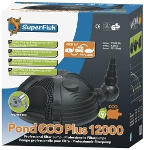 Superfish Pond Eco Plus 12000 135w 11000l H Pond Pump