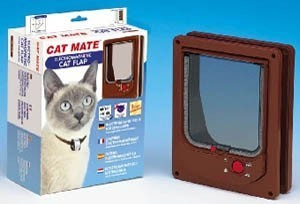 Electromagnetic Cat Flap Brown Pet Mate
