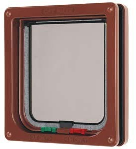 4 Way Cat Flap Pet Mate Brown