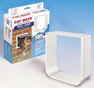 Pet Mate Cat Flap Wall Liner White