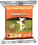 Natures Menu Frozen Raw Beef and Veg Dog Food 300g