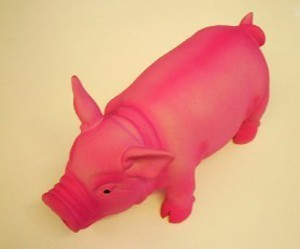 Latex Pig With Real Piggy Sound Dog Toy