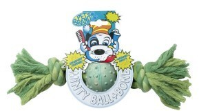 Minty Rubber Ball 'n' Bone Medium by Pet Brands Dog Toy