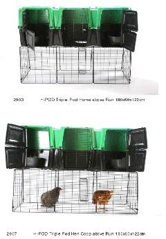 H Pod Chicken Coop and Run 180cm