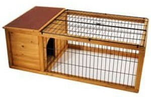 Harrisons Deluxe Meadow Rabbit Hutch and Run 127x66x46cm