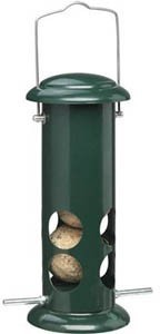 Walter Harrisons Style Fat Ball Suet Roll Feeder Green 23cm