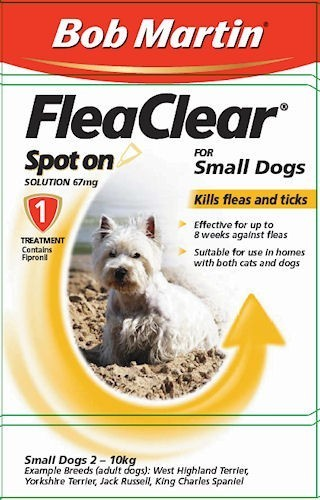 Bob Martin Flea Clear Small Dogs up to 10 Kg