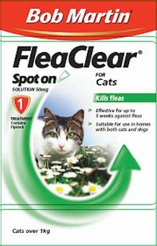 Bob Martin Flea Clear For Cats 3 pack