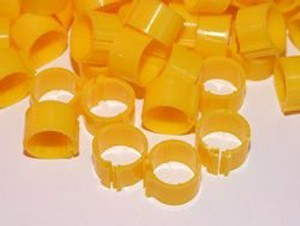 Leg Rings For Adult Hens Yellow Pack 100 16mm