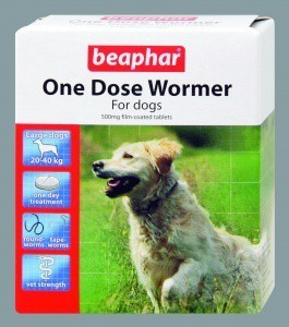 Beaphar One Dose Dog Wormer up to 40kg