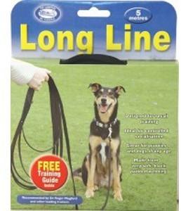 Coa Clix Long Line Black 5 Metre Dog Lead