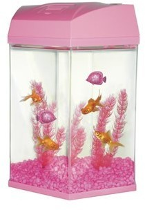 Fish R Fun Hexagon Fish Tank Kit 27.6 Litre Pink