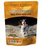 Natures Menu Turkey and Chicken 8 X 300g Dog Food Pouches