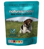 Natures Menu Chicken Rabbit and Duck 8 X 300g Dog Food Pouches