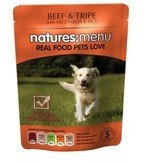 Natures Menu Beef and Tripe 8 X 300g Dog Food Pouches