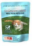 Natures Menu Cat Food Chicken Salmon and Tuna 100g Pouch