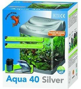 Superfish Aqua 40 Fish Tank Silver 25 Litre