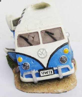Vw Camper Van Blue With Air Operated Bubbling Exhaust