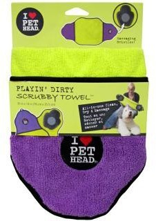 Pet Heads Playing Dirty Scrubby Towel