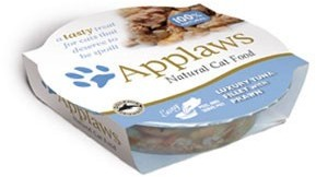 Applaws Cat Food Luxury Tuna Fillet With Prawn Pot 60g x 10