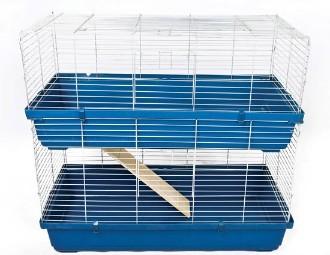 Two Tier Rabbit Cage 100cm